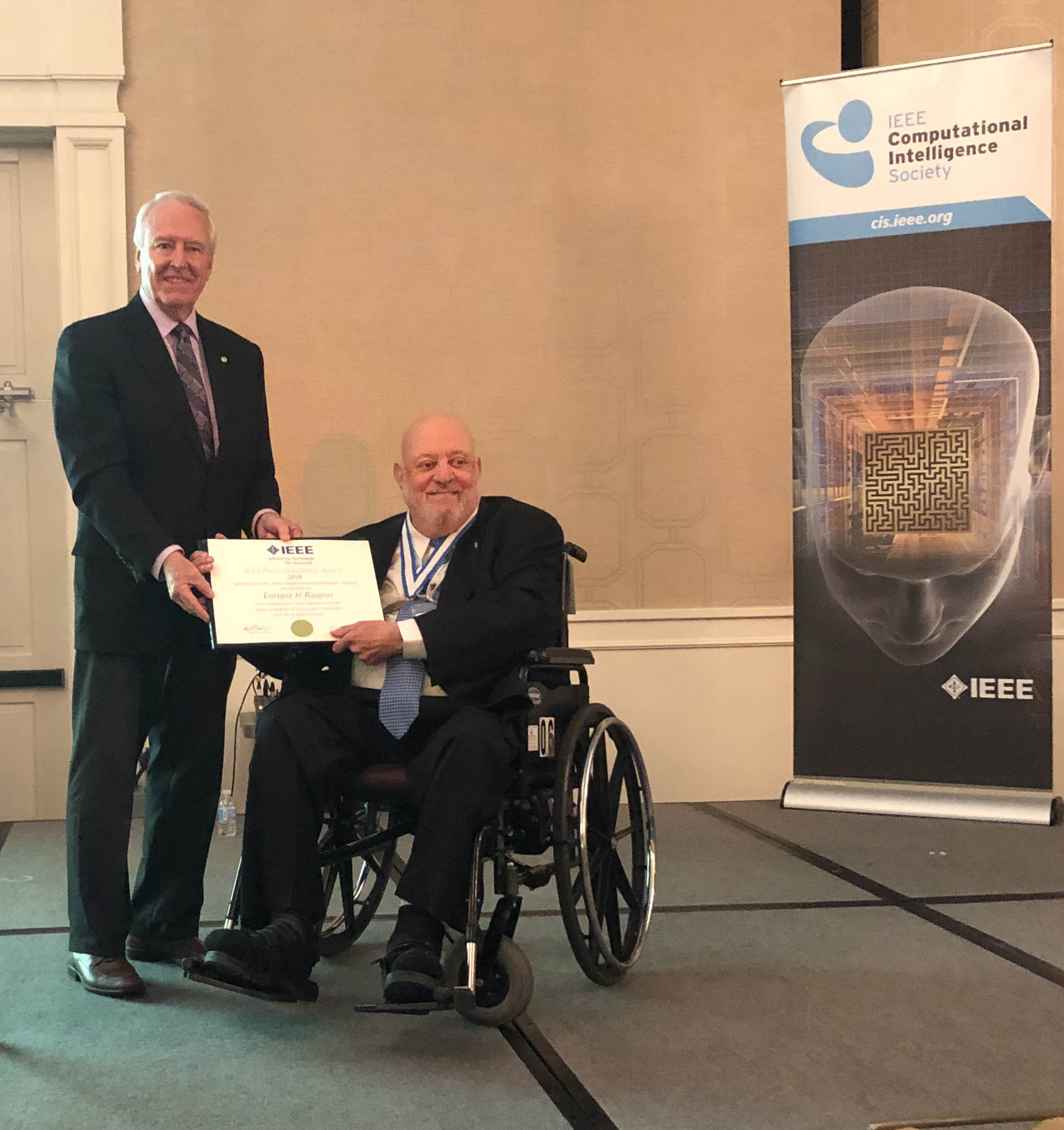 Dr. Ruspini is the recipient of the 2018 IEEE Frank Rosenblatt Technical Field Award